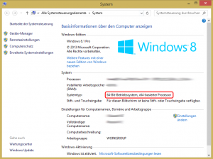 Systeminfo: Windows Version ablesen